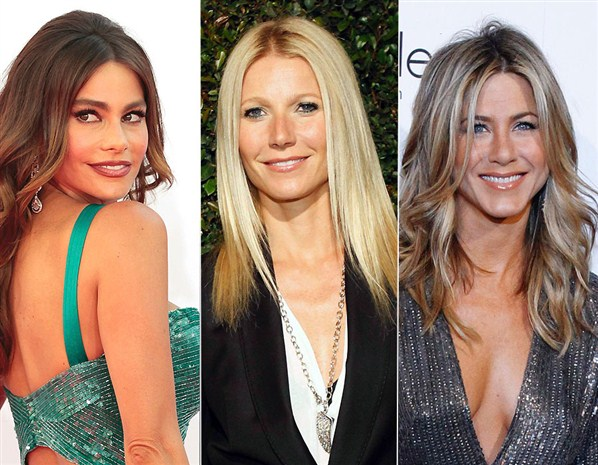 Sofía Bergara, Gwyneth Paltrow y Jennifer Aniston