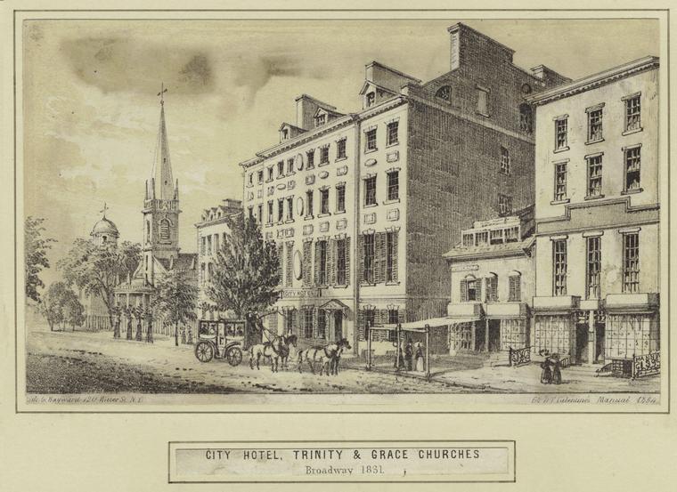 City Hotel, el primer hotel de Estados Unidos